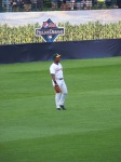 Rickey in the outfield.