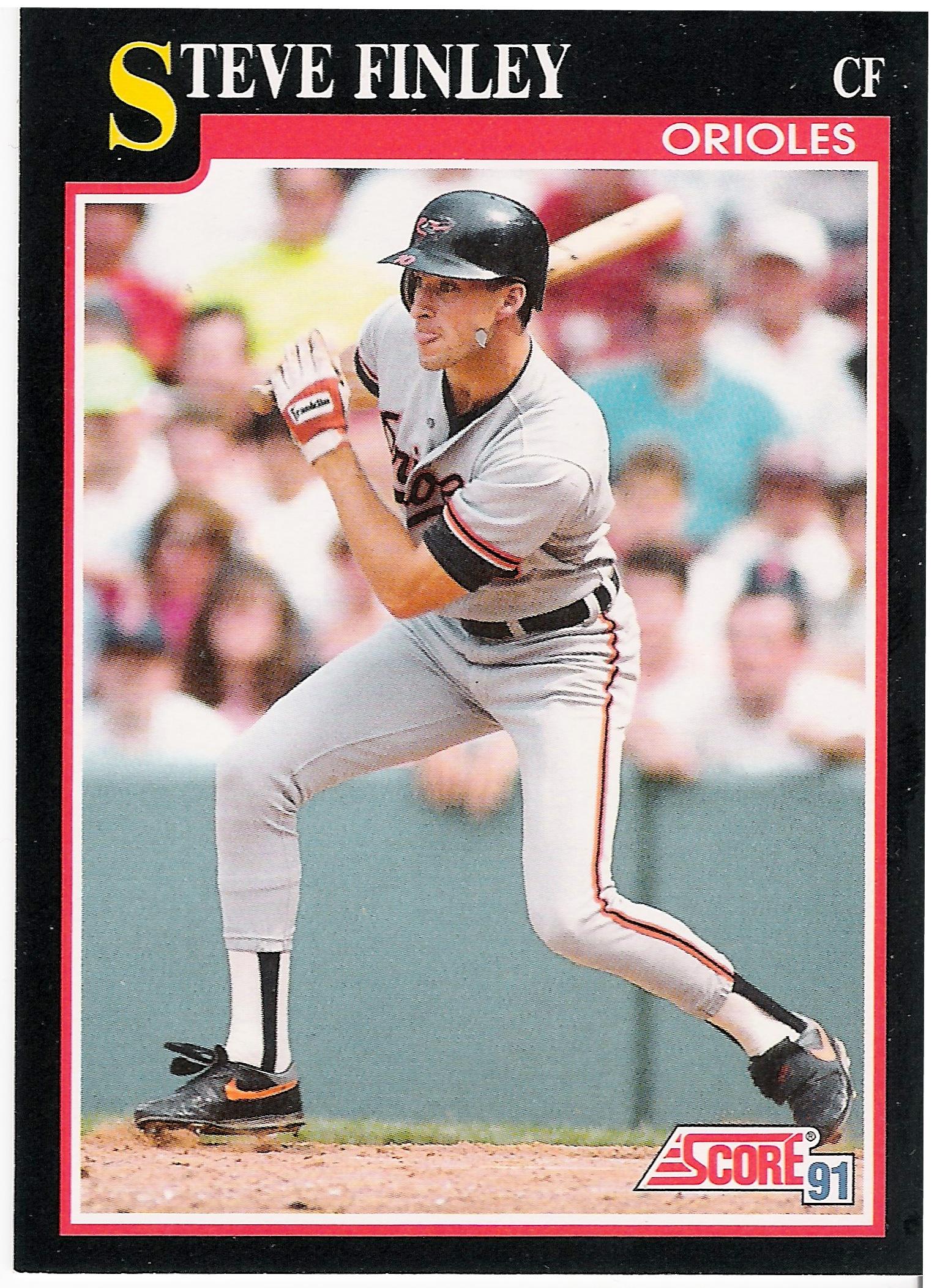 The Baseball Card Haiku Project 2 Steve Finley Score 1991 The