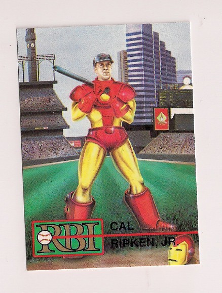 There Exists A Baseball Card Of Cal Ripken In An Iron Man