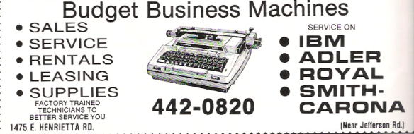 Budget Business Typewriters