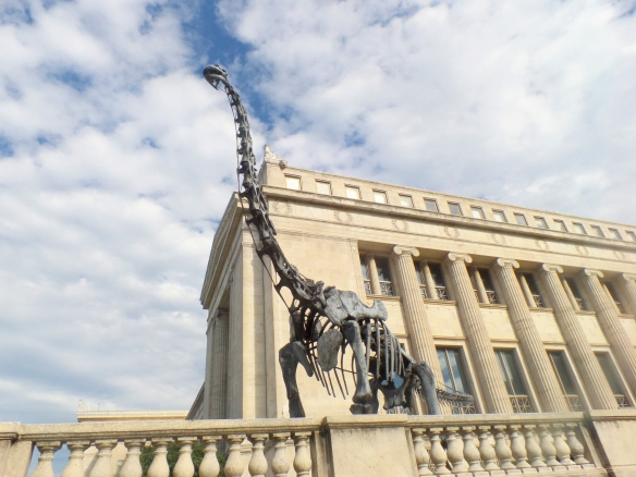 Brachiosaurus outside of the Field Museum